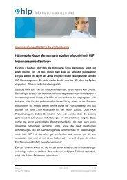Kurzmitteilung HLP-HKM - HLP Informationsmanagement  GmbH