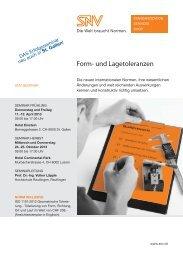 Form- und Lagetolerierung - SNV Schweizerische Normen ...