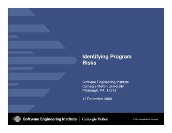 Identifying Program Risks - Software Engineering Institute ...