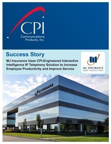 MJ Insurance - Communication Products, Inc.