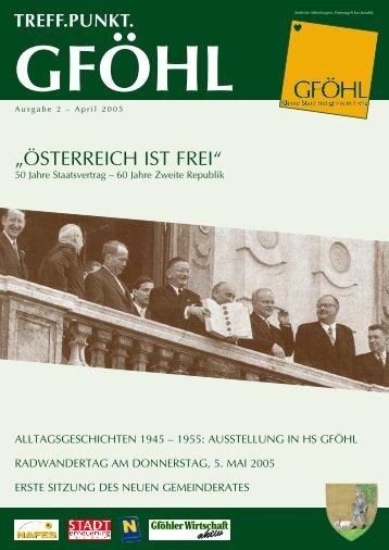 """""""ÖSTERREICH IST FREI"""" - Stadtgemeinde Gföhl"""
