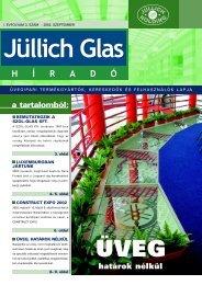 a tartalomból: határok nélkül - Jüllich Glas Holding Zrt.