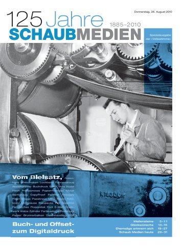 125 Jahre 1885–2010 Buch- und Offset- zum ... - Volksstimme