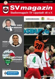 SVmagazin 2005/2006 Ausgabe 11 - SV Lippstadt 08