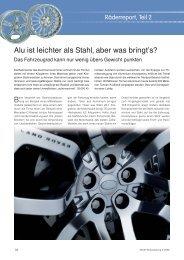 Räderreport, Teil 2 - Reifenpresse.de