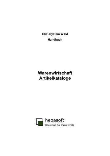 ERP-System WYM Artikelkataloge