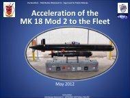 MK 18 Family of Systems - 10th International Mine Warfare ...