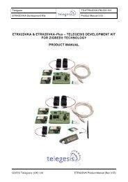 Mk2 development kit technical manual - Telegesis