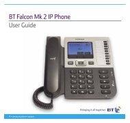BT Falcon Mk 2 IP Phone User Guide - BT Business
