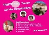 TREFFPUNKT Frauen auf der Hensoltshöhe - hensoltshoehe.de