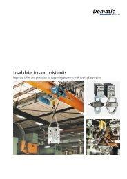 Load detectors on hoist units - Demag Cranes & Components