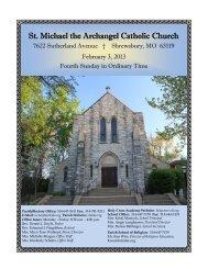 St. Michael the Archangel Catholic Church - E-churchbulletins.com