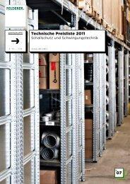 07 Technische Preisliste 2011 - Felderer