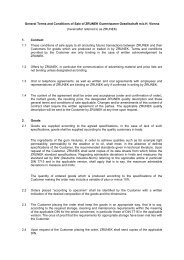 General Terms and Conditions of Sale of ZRUNEK Gummiwaren ...