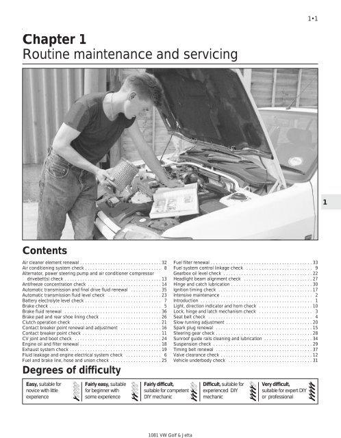 Vw Mkii A2 Mk2 Golf Jetta Fox Service Manual