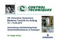 Moderne Technik im Aufzug - Henning GmbH