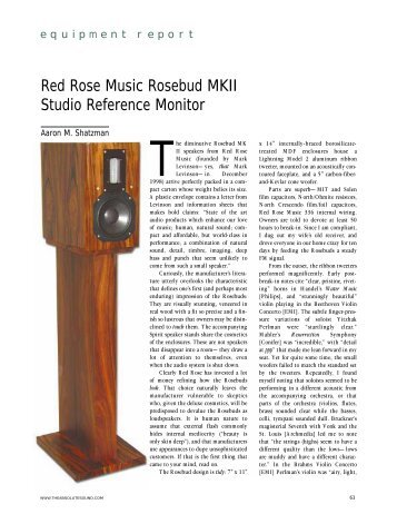 Red Rose Music Rosebud MKII Studio Reference Monitor