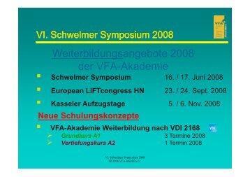 VFA-Akademie Weiterbildung nach VDI 2168 - Henning GmbH