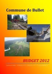 Rapport Budget 2012 - Commune de Bullet