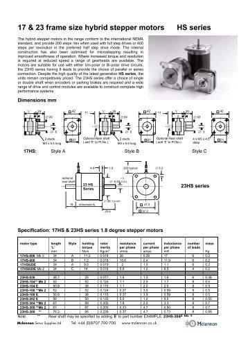 Konstanz hybrid 2 phase stepper motor catalog alstron for Servo motor frame sizes