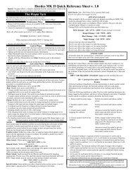 Hordes MK II Quick Reference Sheet v. 1.0 - Hand Cannon Online