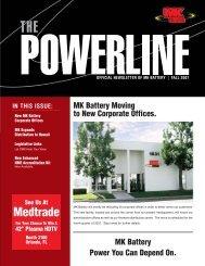 Bulletin de septembre 2007 - MK Battery