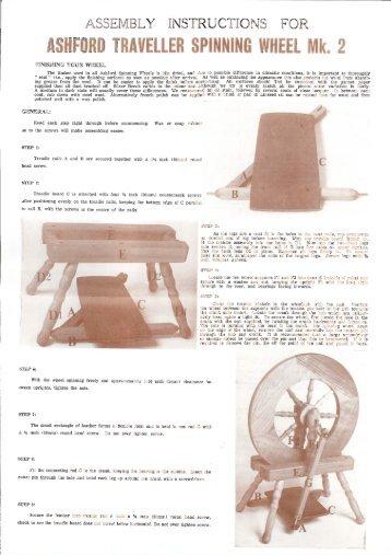 traveller spinning wheel mk2 single treadle 1980-1996 - Ashford ...