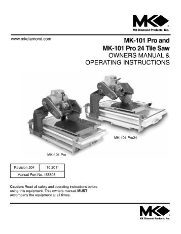 Mk 660 Tile Saw Mk Diamond Products