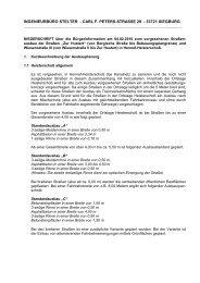 Protokoll der Infoveranstaltung am 4.2.2010 - Hennef