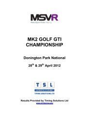 MK2 GOLF GTI CHAMPIONSHIP - TSL Timing