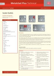 Metalclad Plus Technical - MK Electric