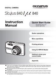 Instruction Manual - Olympus America