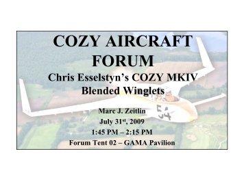 Chris Esselstyn's O-540 COZY MKIV Blended Winglets