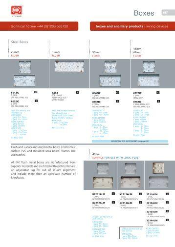 catalogue pdf mk electric. Black Bedroom Furniture Sets. Home Design Ideas