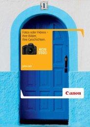 Ihre Bilder, Ihre Geschichten. - Brochures - Canon Europe