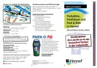 Parkplätze, Parkhäuser und Park & Ride in Hennef - Die Hennefpartei