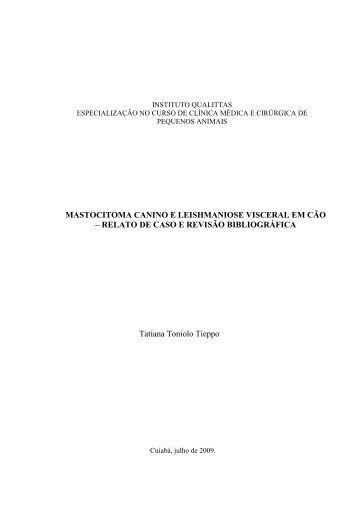 Mastocitoma Canino e Leishmaniose Visceral em Cao - Qualittas