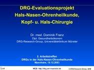 DRG Evaluationsprojekt Hals-Nasen-Ohnren-Heilkunde, Kopf