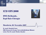 ICD/OPS 2008 HNO-Heilkunde, Kopf-Hals-Chirurgie