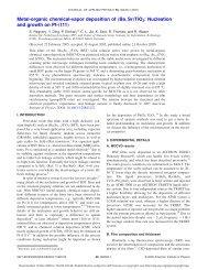 Metal-organic chemical-vapor deposition of - Forschungszentrum ...