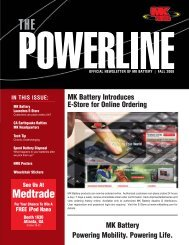 September 2008 Newsletter - MK Battery