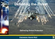 Defeating the Threat - Chemring Group PLC
