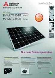 MJT-GB-Serie Datenblatt (de) - Mitsubishi Electric