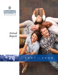 Annual Report - Concordia University Wisconsin