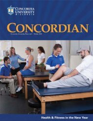 The Concordian - Winter 2012 - Concordia University Wisconsin