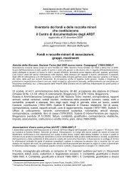 Fondi di associazioni gruppi e movimenti (pdf) - AARDT