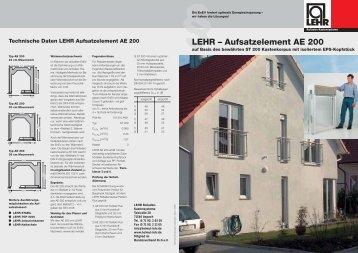 LEHR_Aufsatz- element (449 KB) - LEHR Rollladen-Kastensysteme