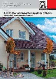 LEHR_System Stabil - LEHR Rollladen-Kastensysteme