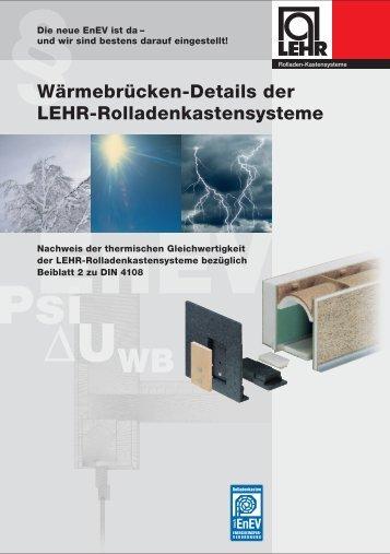 LEHR Prospekt_EnEV_rep - LEHR Rollladen-Kastensysteme