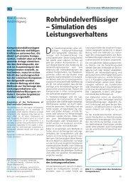 Rohrbündelverflüssiger - Simulation des Leistungsverhaltens - Ohm ...